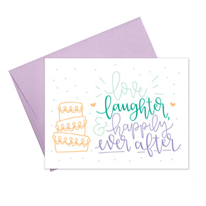 Colette Paperie - Love Laughter Happily Ever After Card