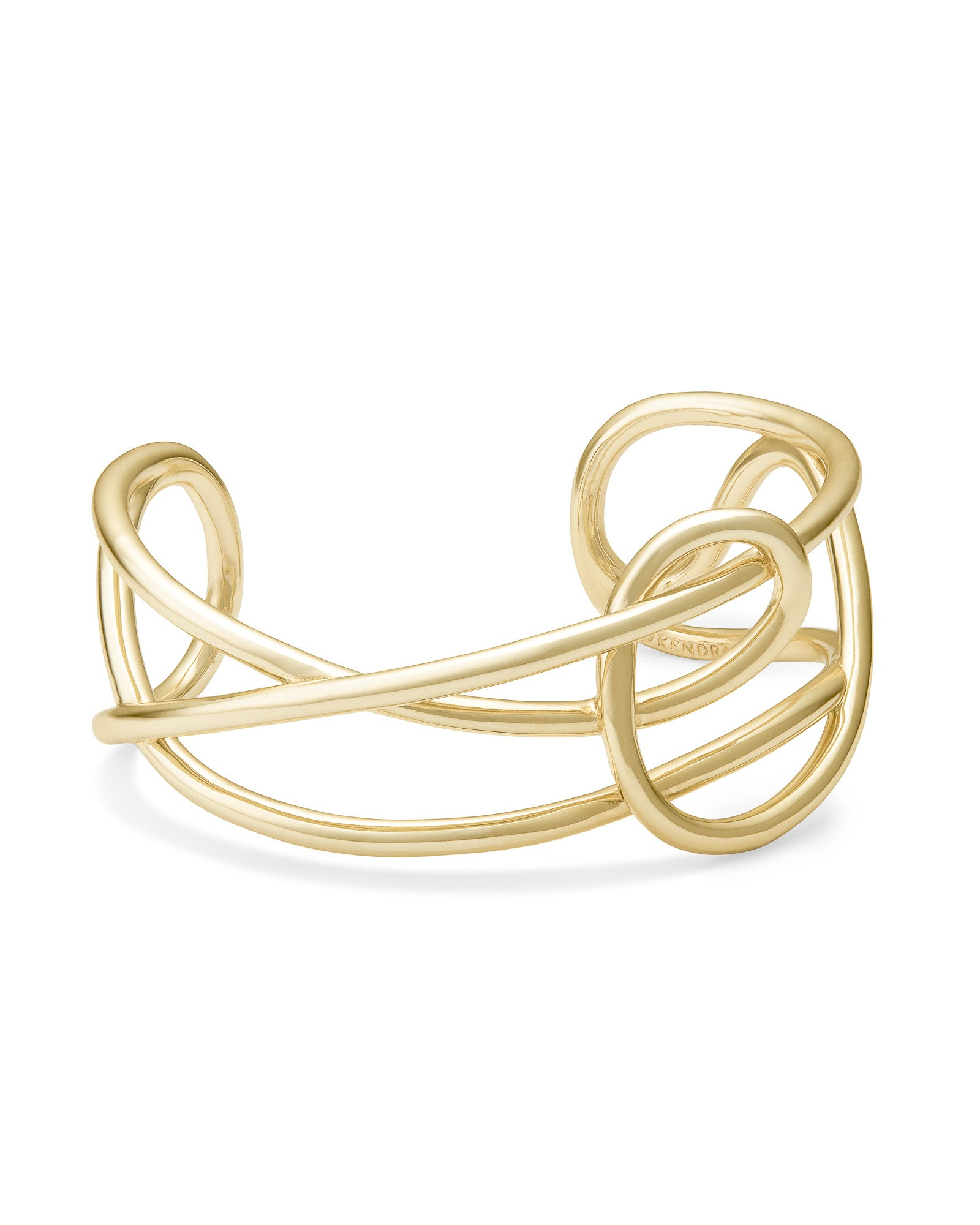 Myles Cuff Bracelet in Gold Metal