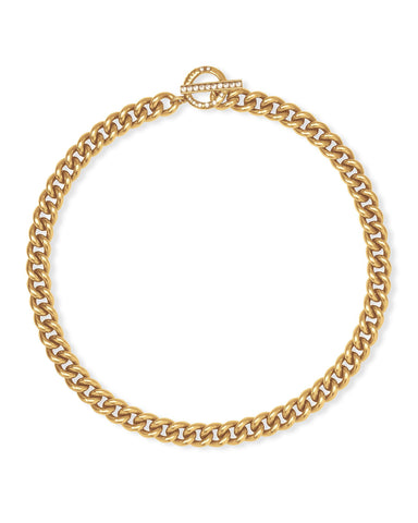 Whitley Chain Necklace in Vintage Gold Metal