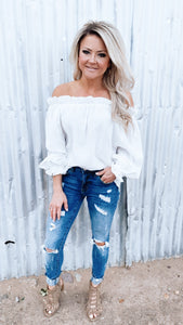 Emily Off Shoulder in Ivory