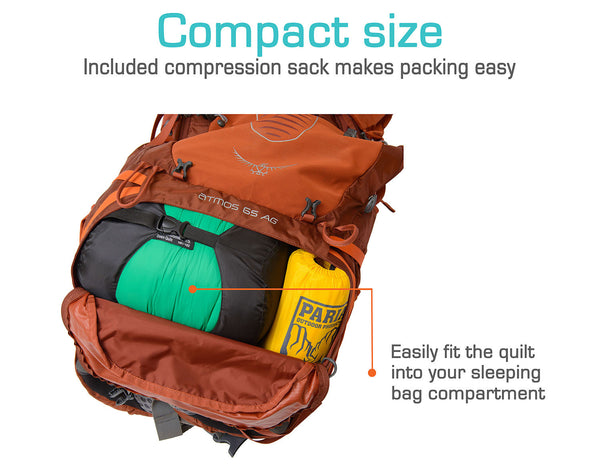 The compact size makes it easy to fit into your pack.