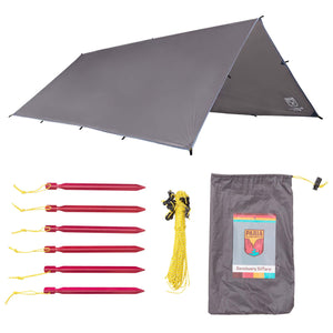 Sanctuary SilTarp | Silnylon Tarp by Paria Outdoor Products - Ultralight and Waterproof Ripstop Silnylon Rain Shelter Tarp, Guy Line and Stake Kit - Perfect for Hammocks, Camping and Backpacking