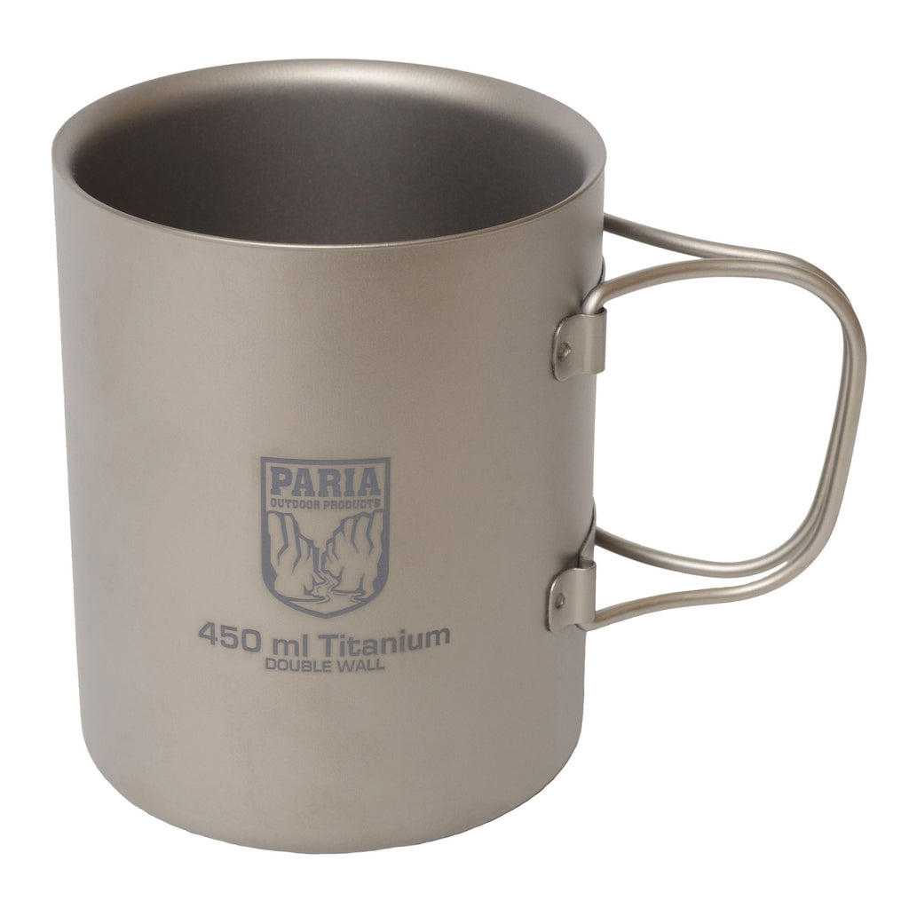 Camping Mug | 450 ml Titanium Double Wall Insulated Mug by Paria Outdoor Products