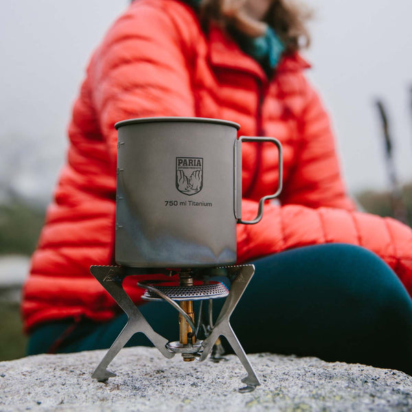 Camping Pot | 750 ml Titanium Single Wall Ultralight Pot by Paria Outdoor Products