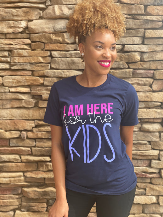 I'm Here for the Kids-Navy Blue