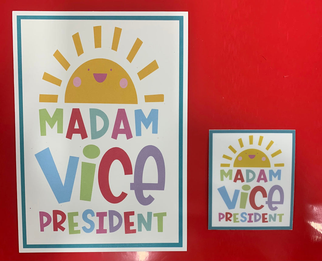Madam Vice President Sticker & Mini Print
