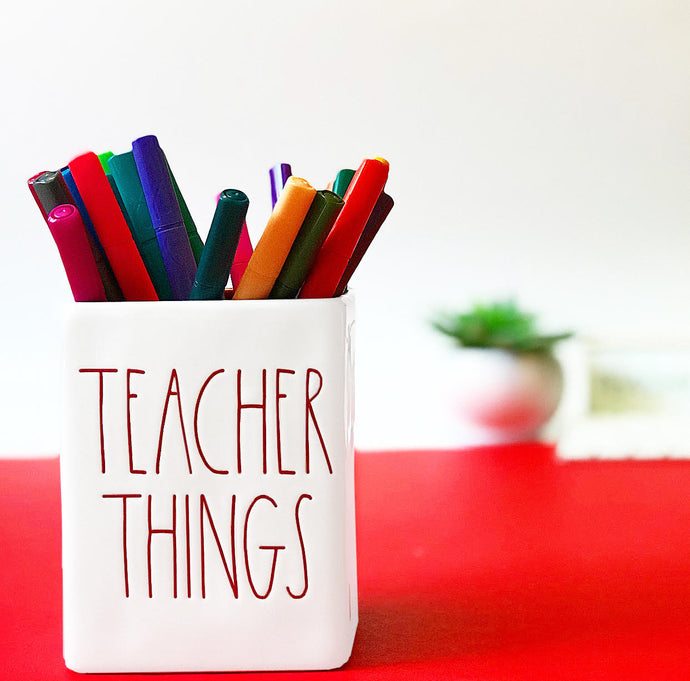 Rae Dunn Teacher Things Pencil Holder