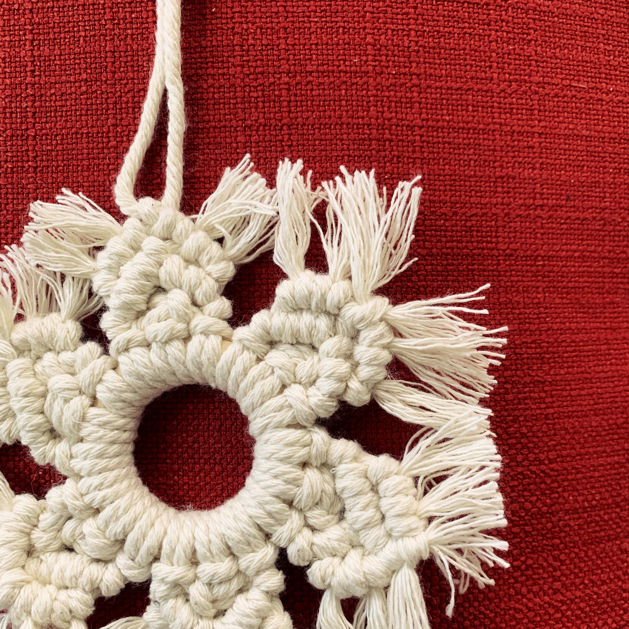 Macrame Snowflake Christmas Tree Ornament Decoration