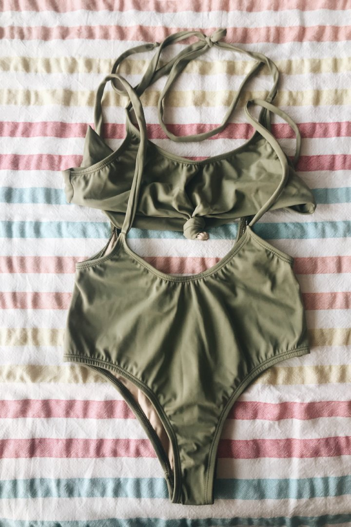 Alondra Swimsuit Olive Green