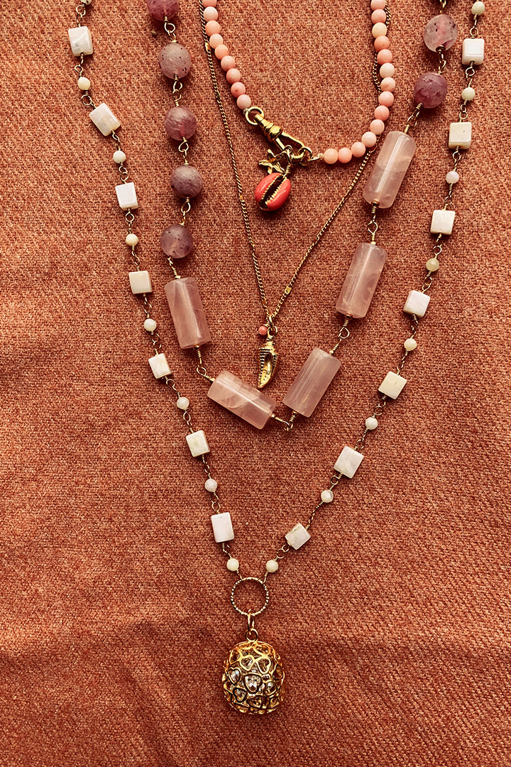 Palmer Rose Quartz Necklace