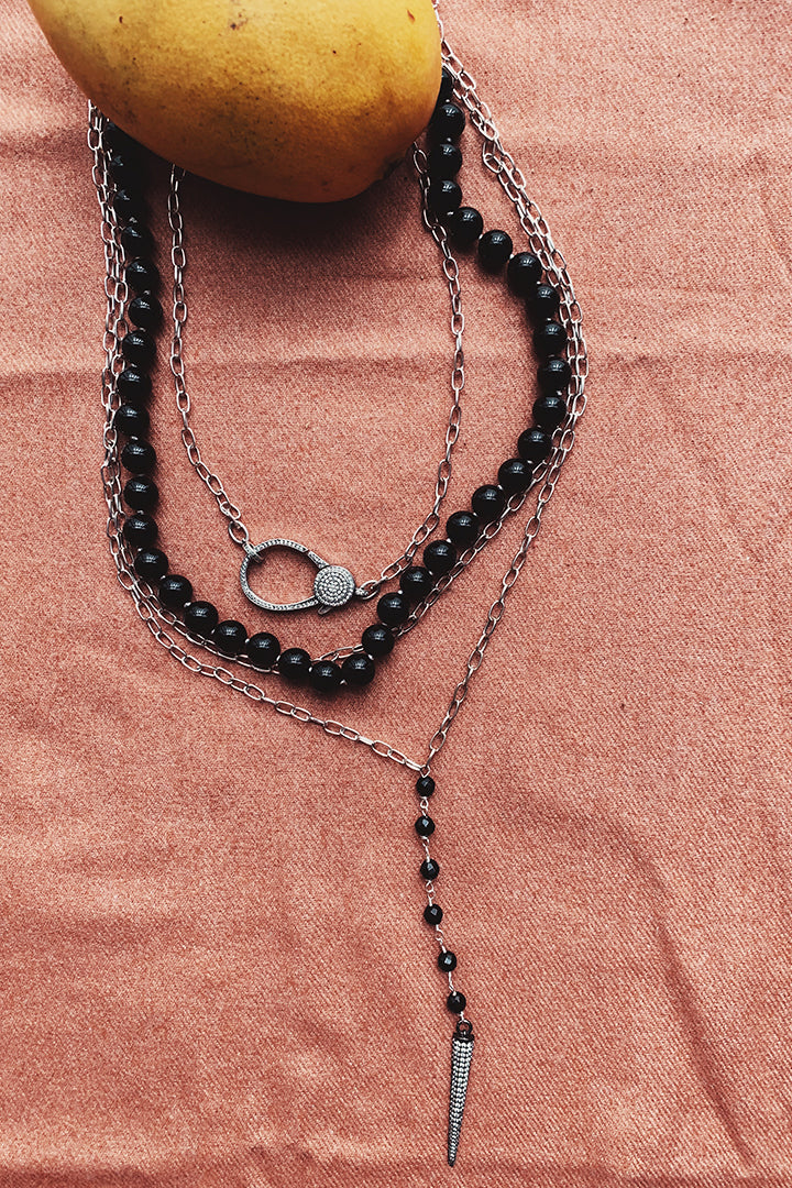 Ivy Onyx Stone Necklace