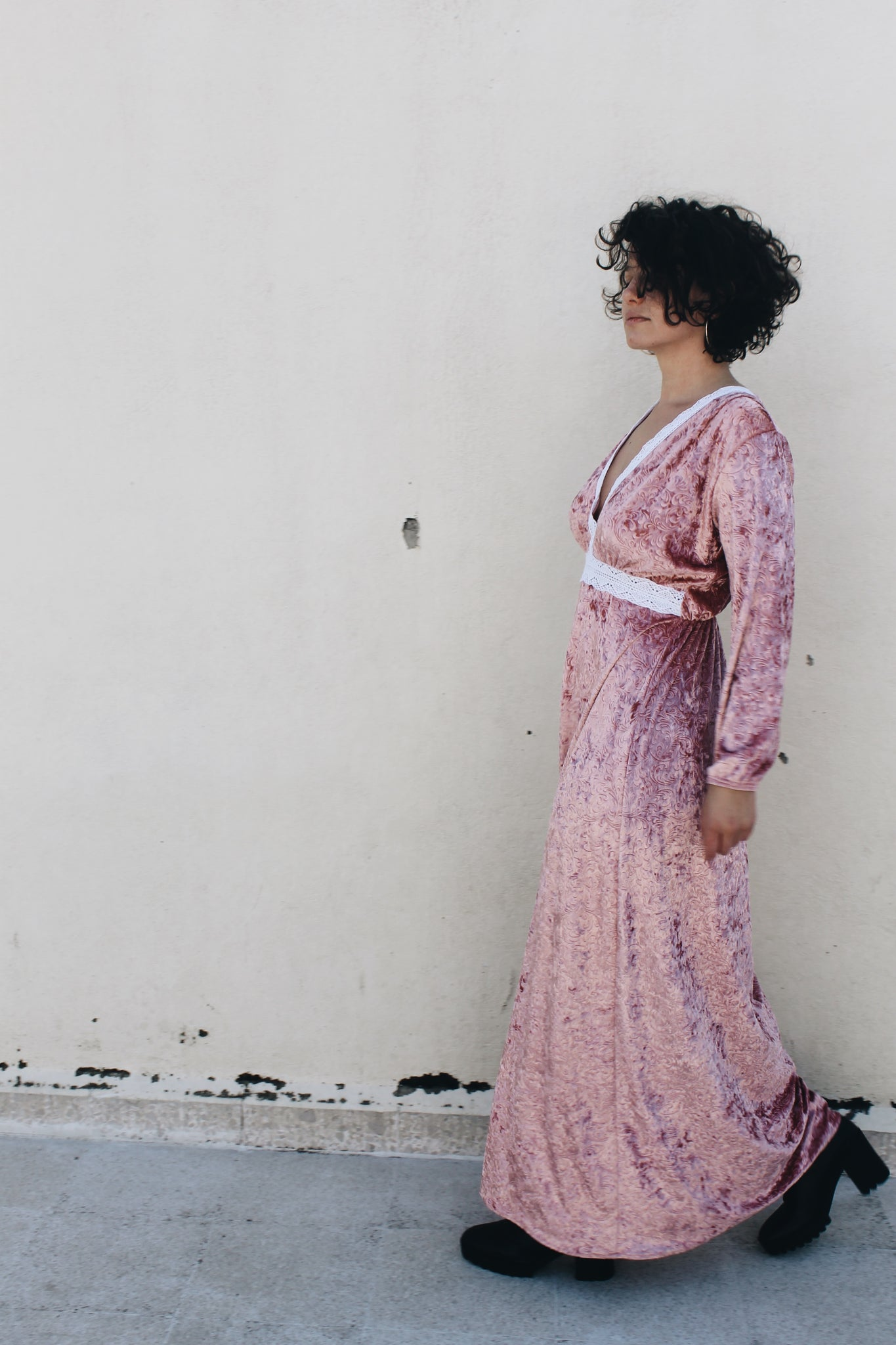 San Francisco Pink Velvet Dress