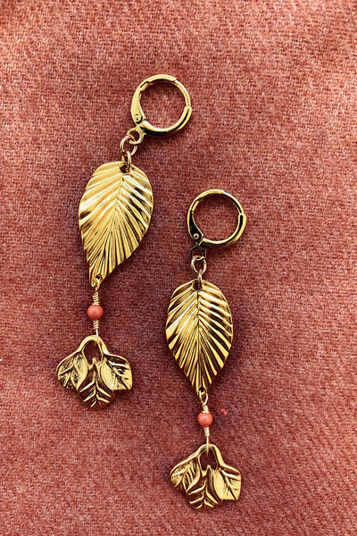 Aria Golden Leaf Earrings