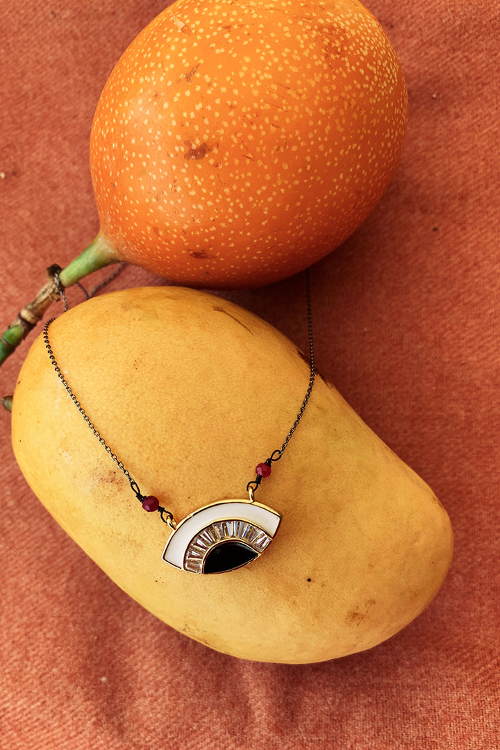 Eva Enamel Eye Necklace