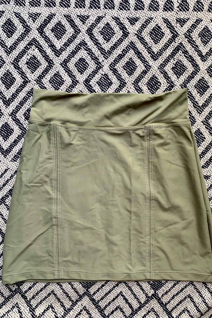 Mermaid Mini Skirt Olive
