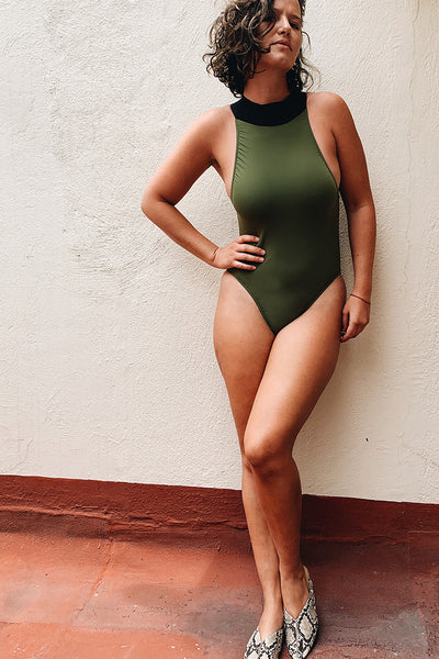 Goose Swimsuit Military Green