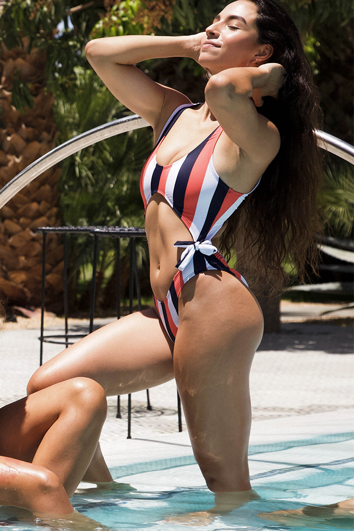 Infinity Swimsuit Multicolor Lines