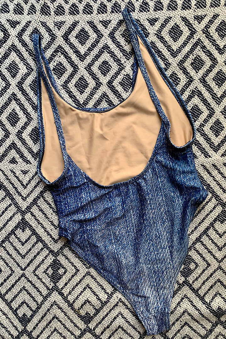 Loire Swimsuit Denim Print