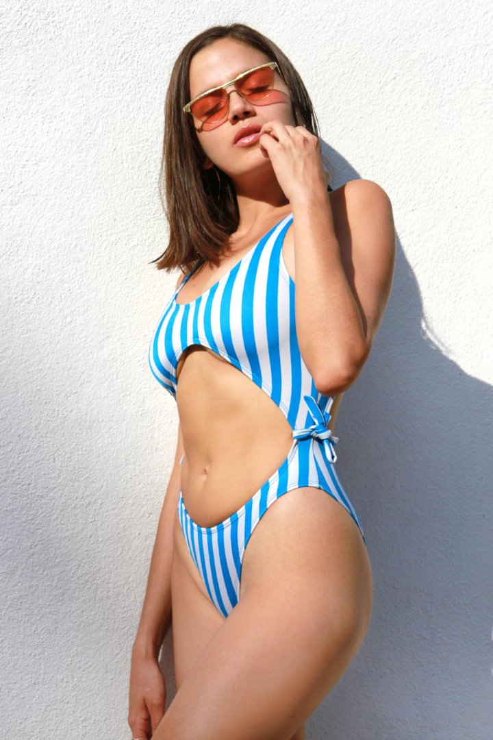Infinity Swimsuit Blue Lines