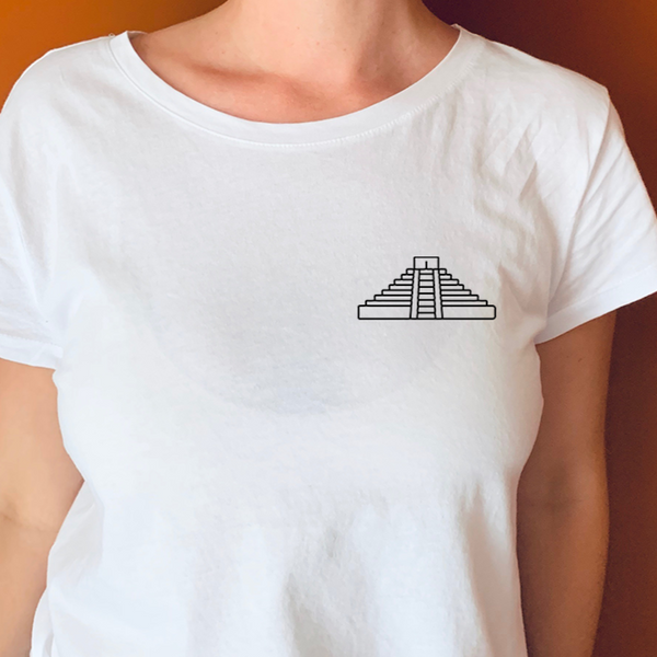 Landmark Chichen Itza Embroidered T-Shirt Unisex