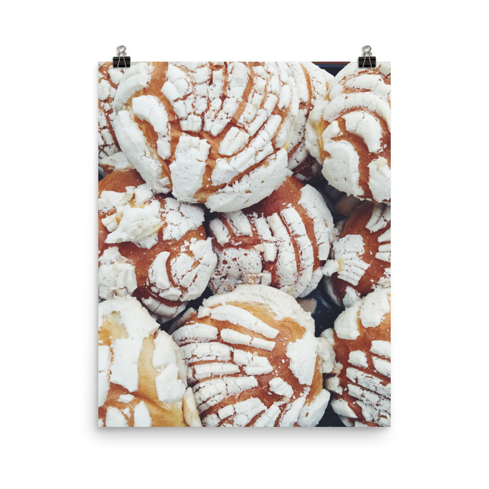 Concha: A Mexican Pastry Photo paper poster
