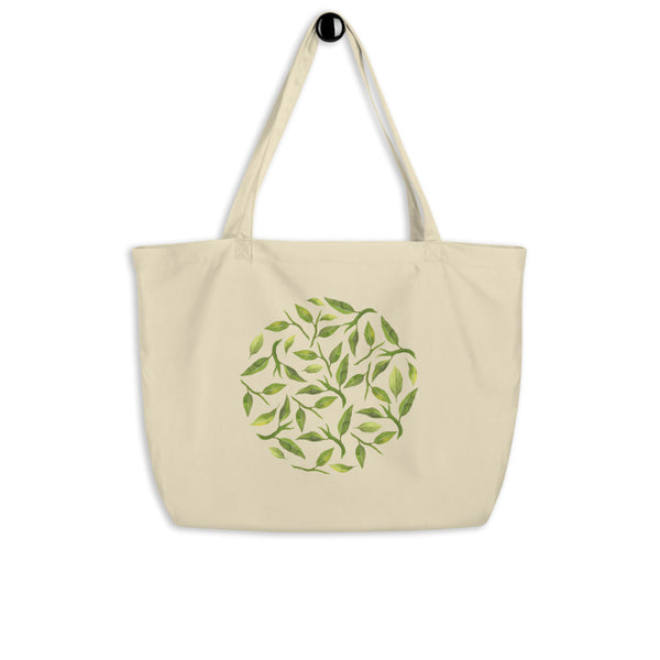Leaf Large organic tote bag