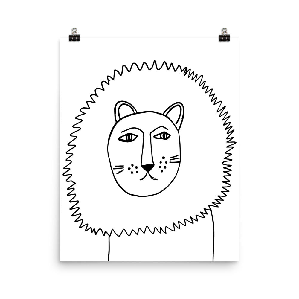 Lion Portrait Nursery Art Print
