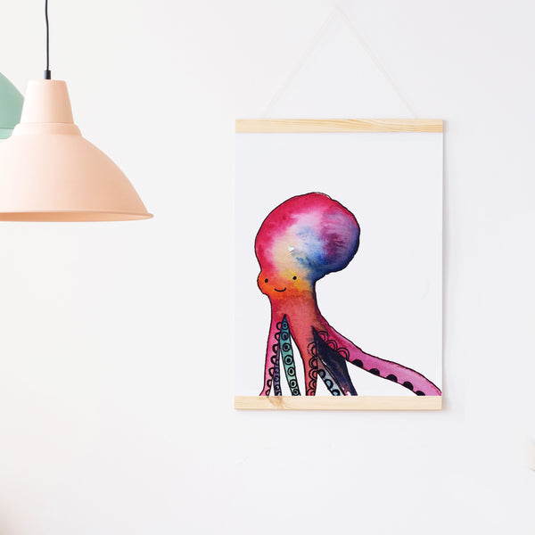 Colorful Octopus Nursery Art Print