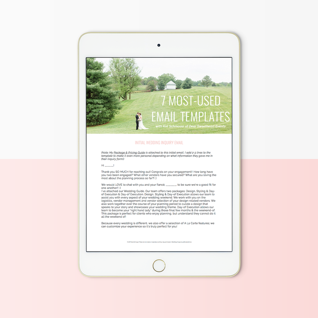 7 Most Used Email Templates for Wedding Planners