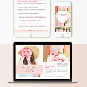 Customizable E-book / E-guide Template