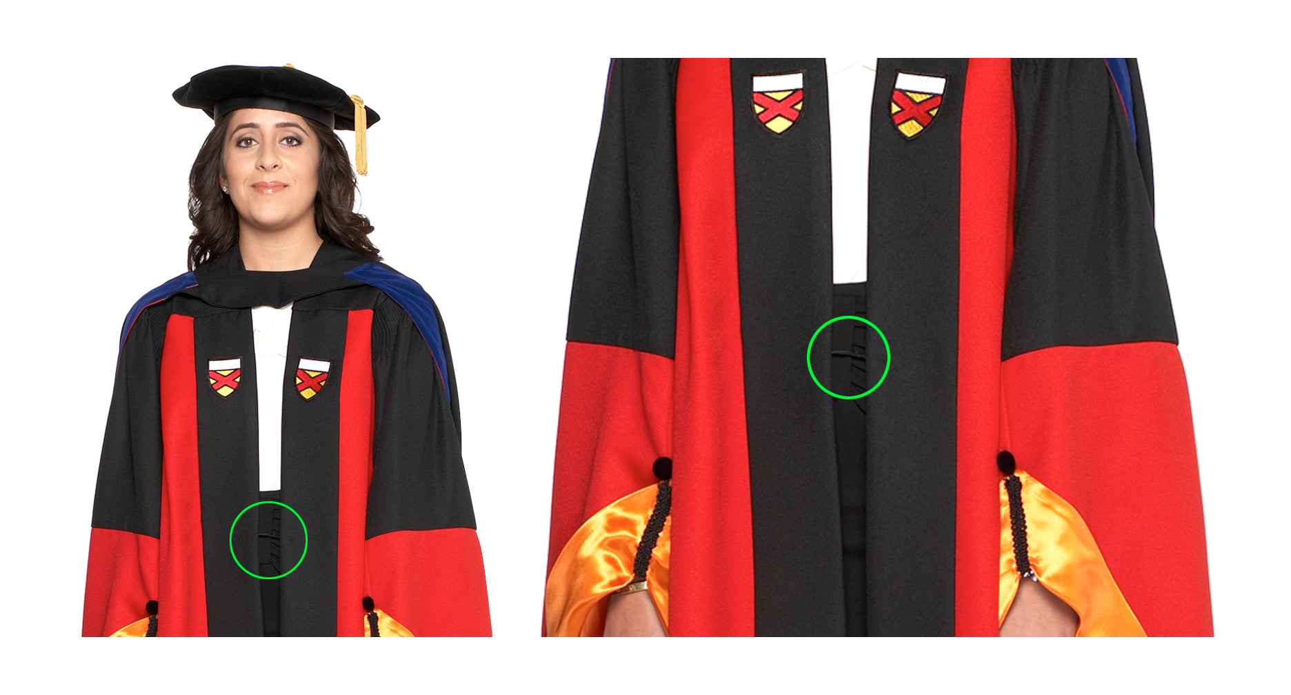 Stanford Zipper on Gown
