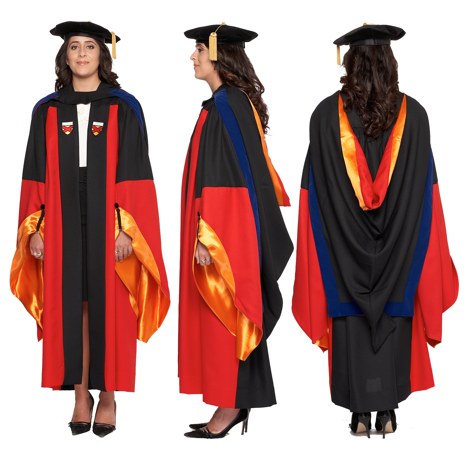 Stanford PhD Gown, Cap, and Hood Regalia Set