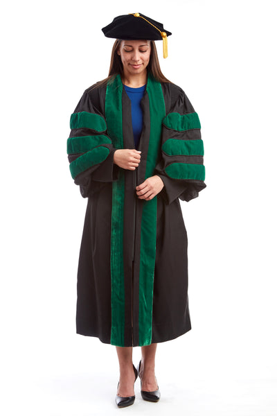 Premium Medical Rental Regalia Set - Medical Gown, Hood, and 8-Sided Tam - CAPGOWN