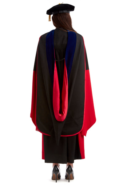 Stanford Complete Doctoral Regalia Set - Doctoral Gown, PhD Hood, and Eight-Sided Cap/Tam with Tassel