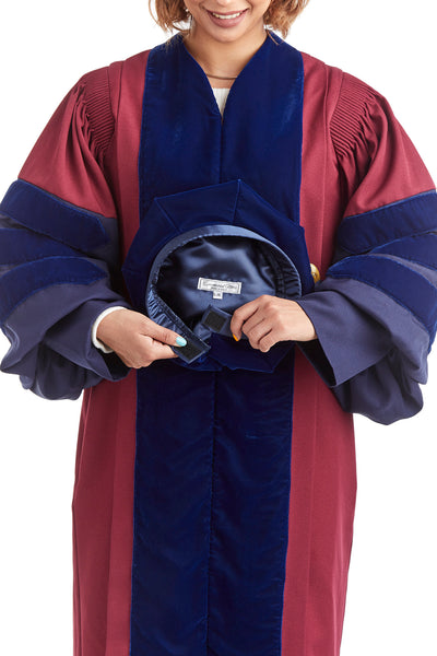 University of Pennsylvania 8-Sided Doctoral Tam (Cap) with Gold Tassel - Rental Keeper