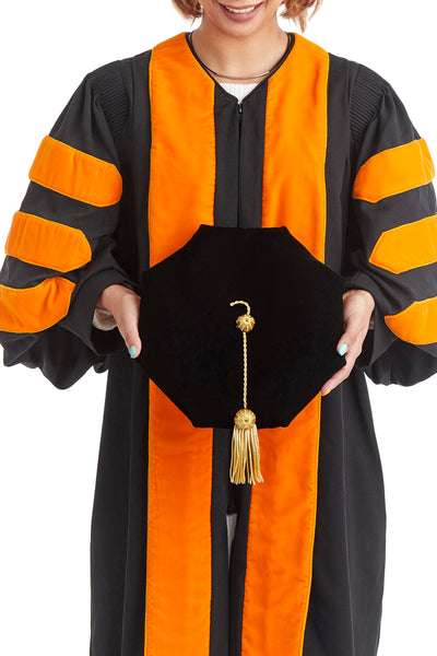 Princeton University 8-Sided Doctoral Tam (Cap) with Gold Tassel - rental keeper