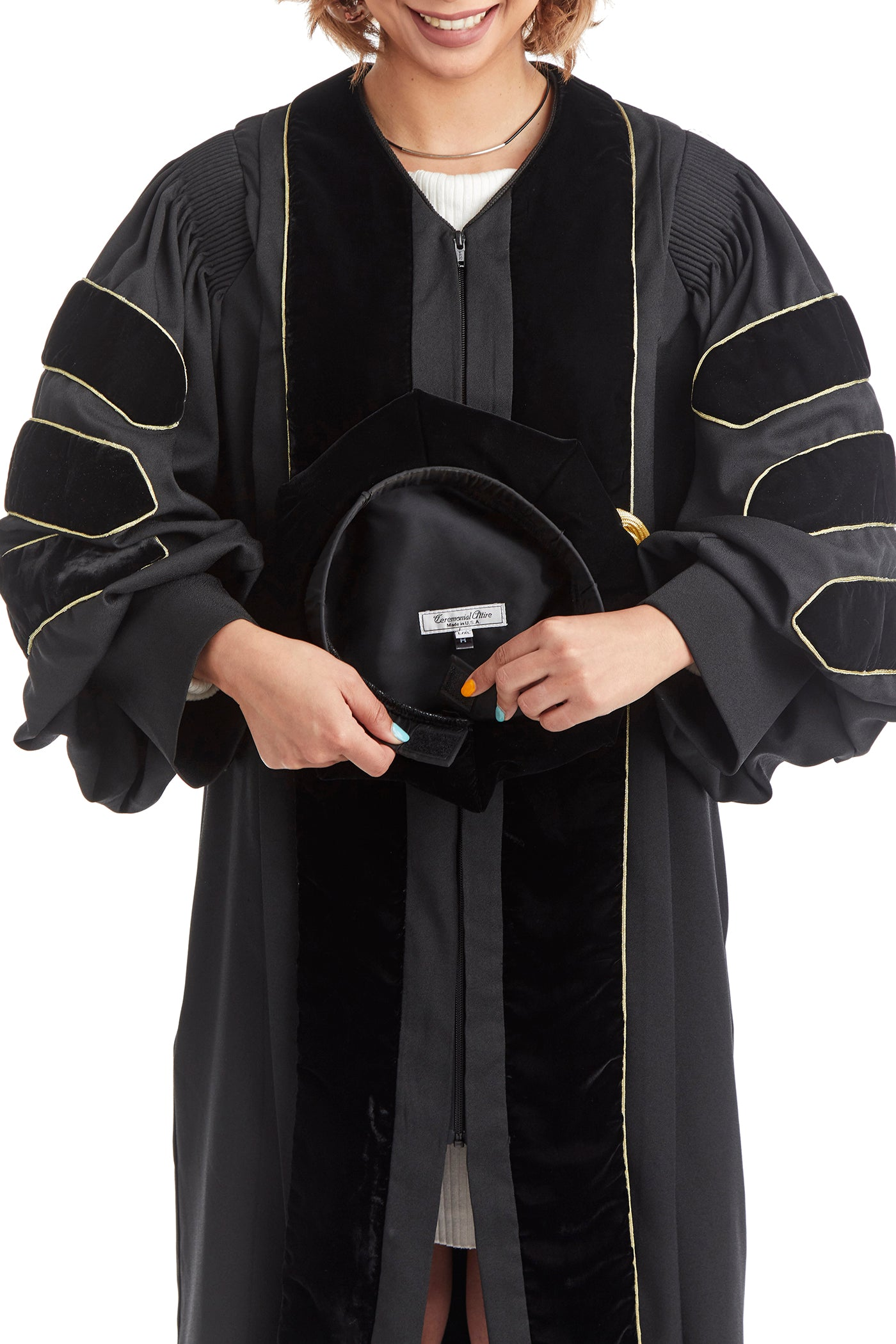 Doctoral Tam for US Military Academy Graduation - 8-sided with tassel and adjustable velcro