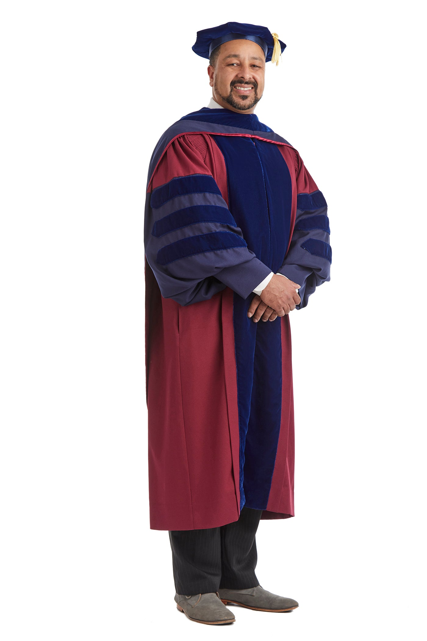 University of Pennsylvania Doctoral Regalia Rental Set. Doctoral Gown, Hood, and Cap / Tam with Tassel