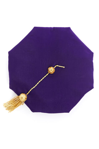 University of Washington 8-Sided Purple Velvet Doctoral Tam (Cap) with Gold Tassel - Rental Keeper