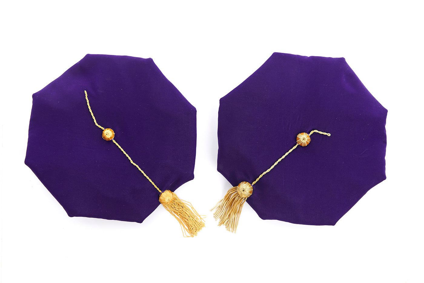 University of Washington 8-Sided Purple Velvet Doctoral Tam (Cap) with Choice of Tassel