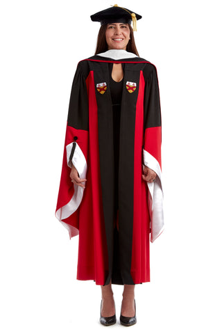 Stanford Complete Doctoral Regalia Set - Art/Humanities/MathDoctoral Gown, Hood, and Eight-Sided Cap/Tam with Tassel