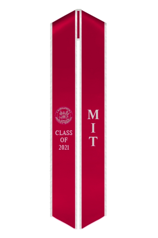 MIT Class of 2021 Graduation Stole - Official MIT Seal Sash - capgown.com