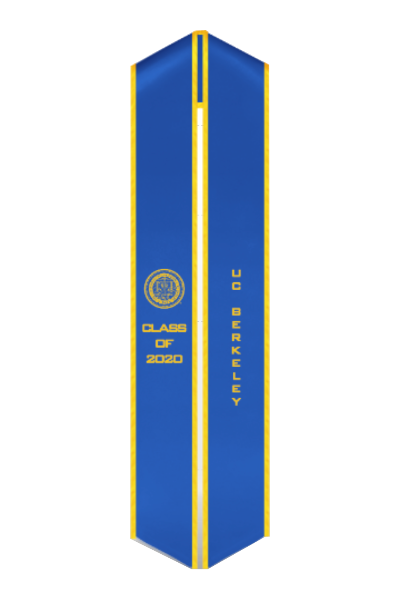 UC Berkeley Class of 2020 Stole - Seal Embroidered - capgown.com