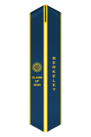 UC Berkeley Class of 2021 Graduation Stole - Official UC Berkeley Seal Sash - capgown.com