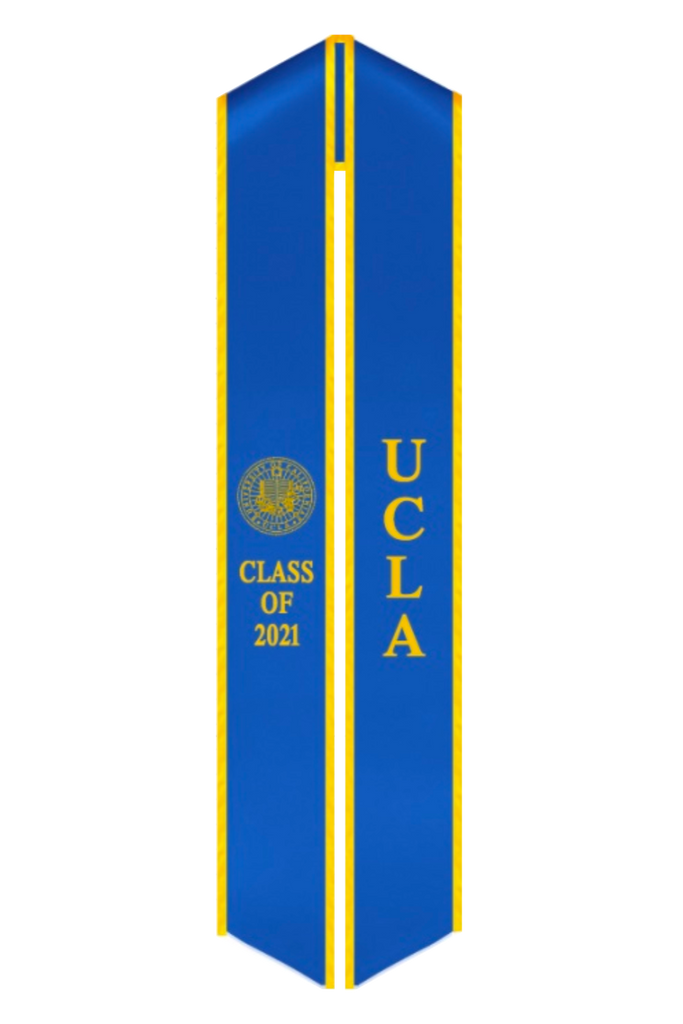 UCLA Class of 2021 Graduation Stole - Official UCLA Seal Sash - capgown.com