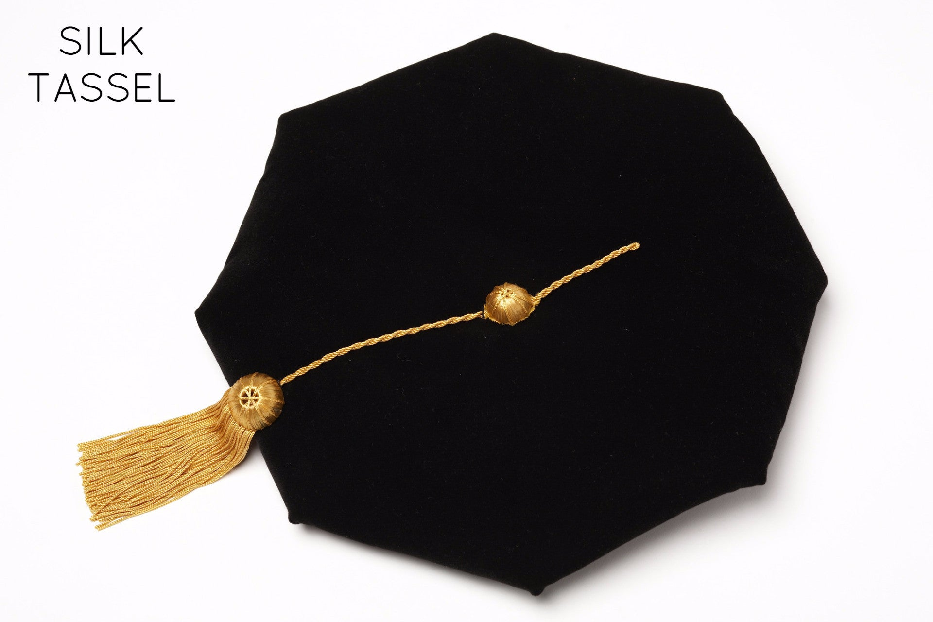 Stanford Complete Doctoral Regalia Rental - Velvet Cap with Yellow Silk Tassel
