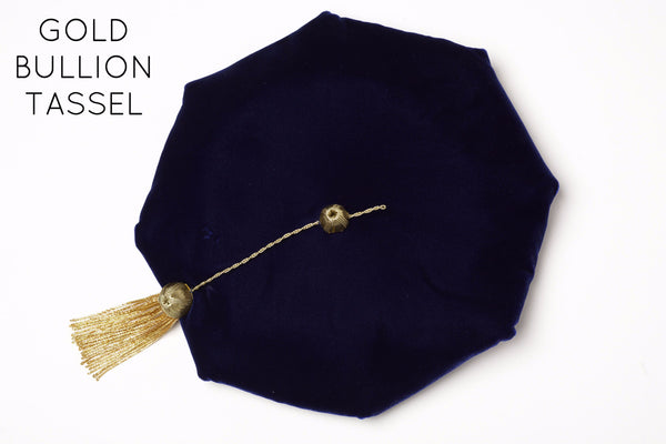 University of California PhD Cap with Gold Bullion Tassel for Complete Regalia