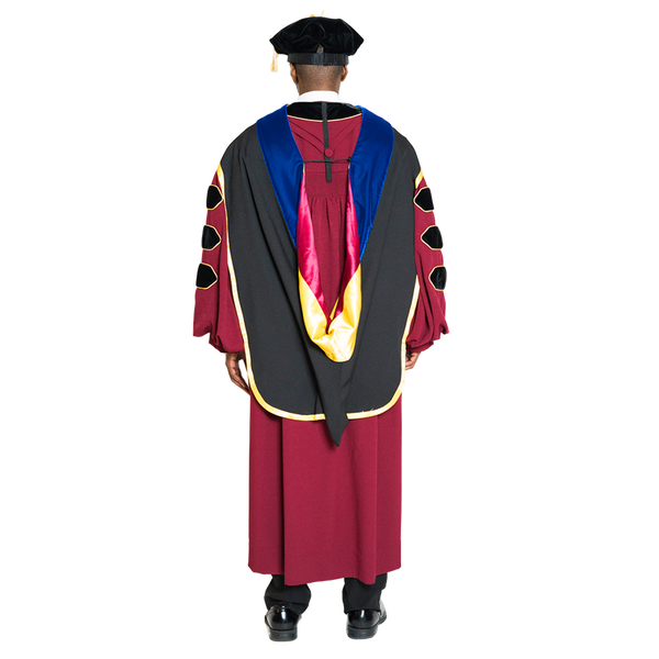University of Minnesota Doctoral Regalia Set - PhD Gown, PhD Hood, and 8 sided Cap / Tam
