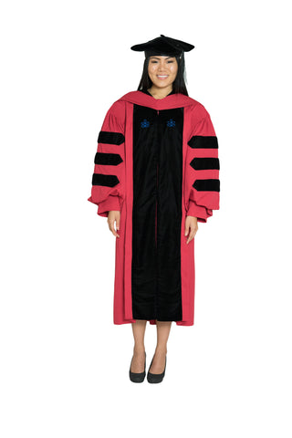 Harvard University Doctoral Regalia, PhD Gown, PhD Hood, and 4-sided Velvet Cap / Tam