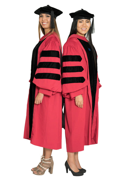 Harvard University Doctoral Regalia Rental - Harvard PhD Gown, Doctoral Hood, Four-Sided Cap/Tam